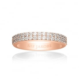 Sif Jakobs Corte Due Rose Gold Ring Size- (52)