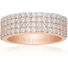 Sif Jakobs Corte Quattro Rose Gold Ring- Size (54)
