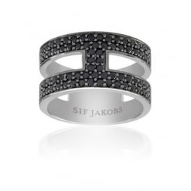 Sif Jakobs Foggio Silver Ring- Size (56)