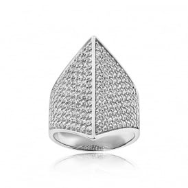 Sif Jakobs Trapani Silver Ring- Size (N)
