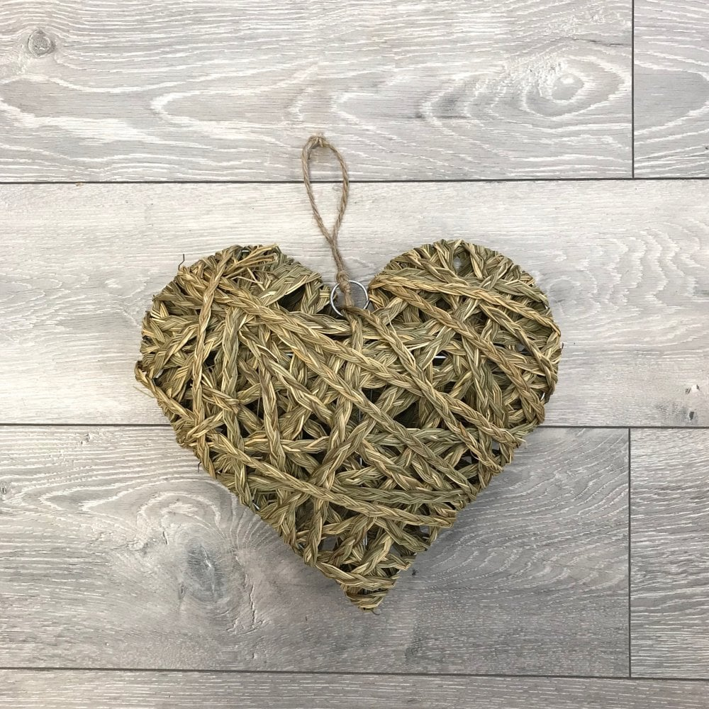Large Hanging Straw Heart