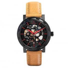 Kolt Black Tan Suede Watch
