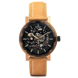 Kolt Rose Gold Suede Watch