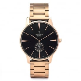 Mayfair Black Rose Gold Watch