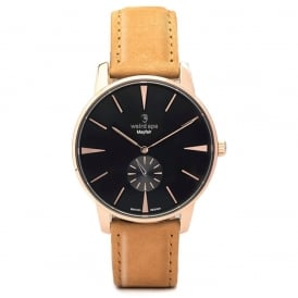Mayfair Rose Gold Suede Watch